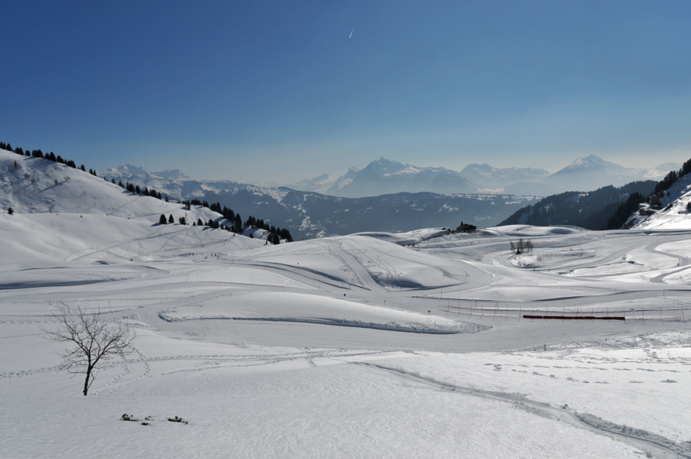 col de Joux Plane, cross-country skiing