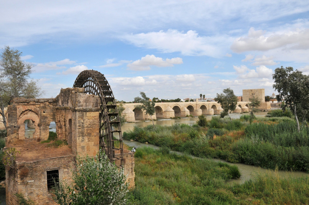 Cordoba, roman bridge and albolafia mill