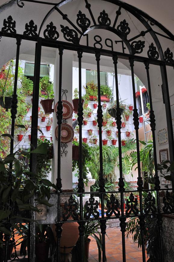 a patio in Cordoba