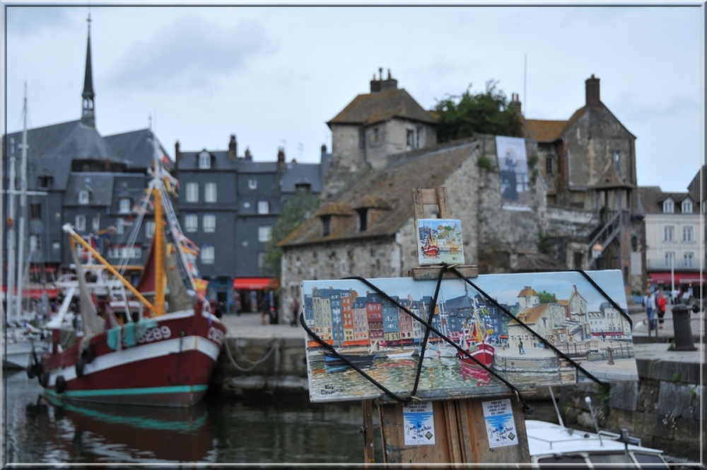 scene of painting in Honfleur