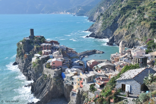 Vernazza view from the coastal footpath