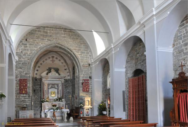 the church of Volastra (Manarola, Italy)