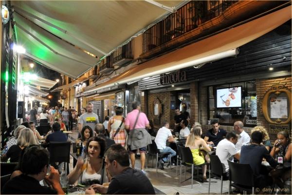 Granada (Spain), dinner in the street