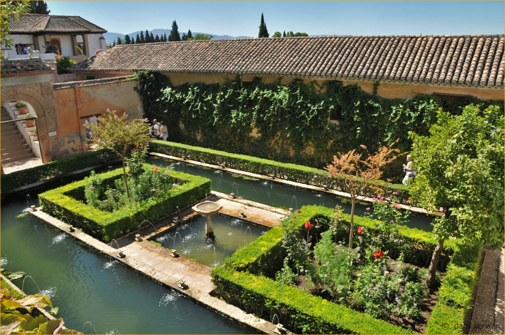 Granada, Gardens of the Generalife of the Alhambra