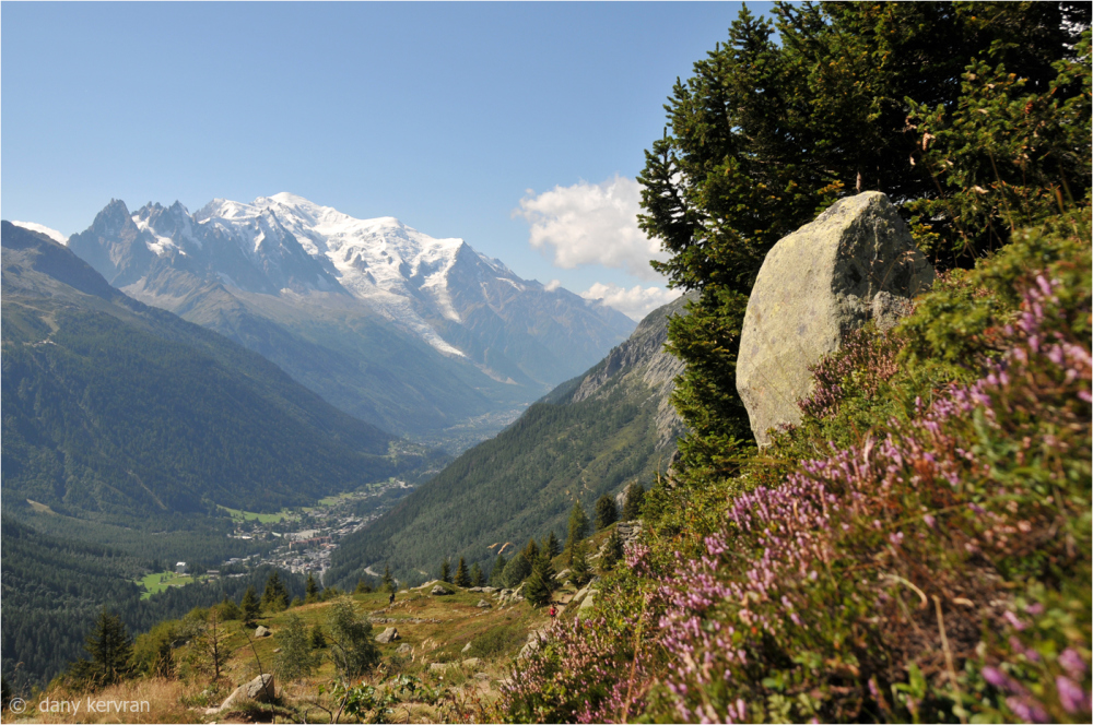 view on Mont Blanc massif