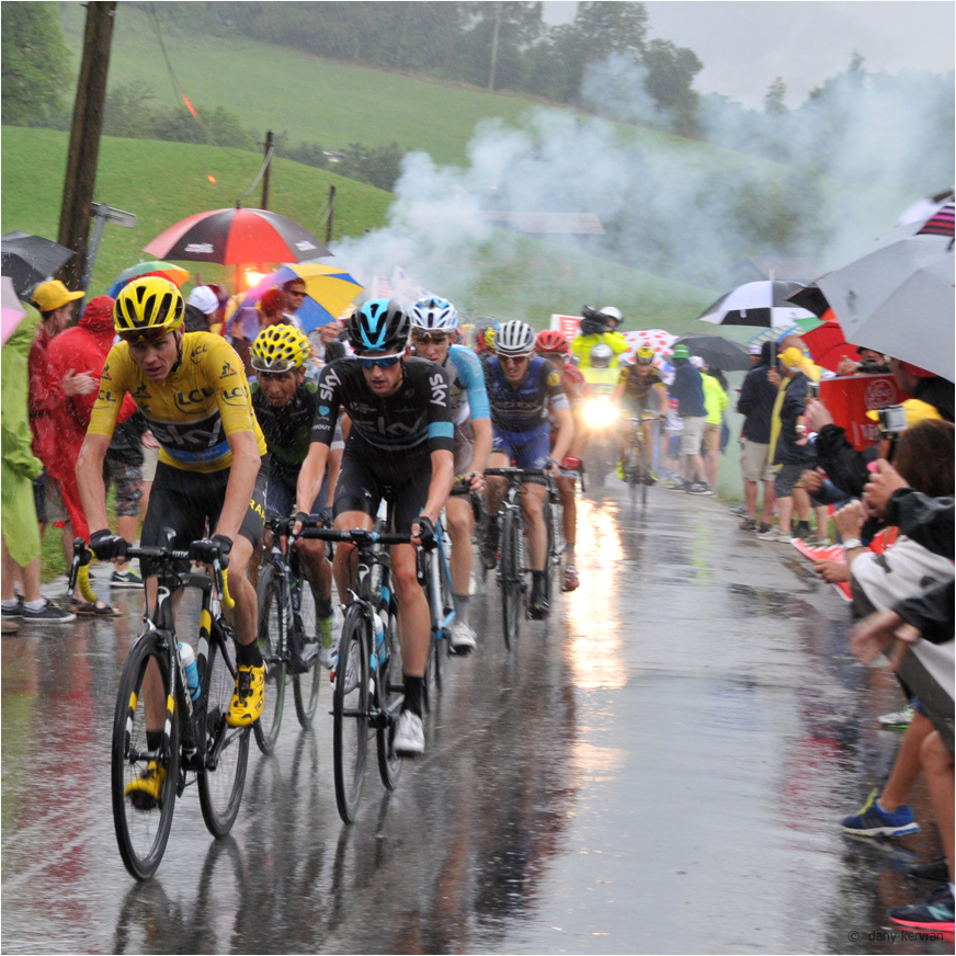 Chris Froome climbing Joux Plane pass (2016-07)