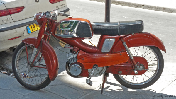 a old motorcycle in Paris