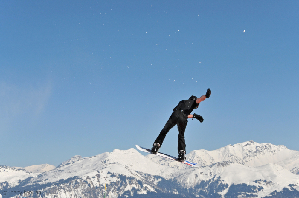 jump with a snowboard