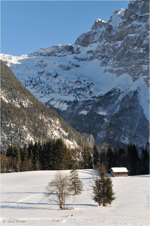 snowy landscape above Samoëns (Haute-Savoie)