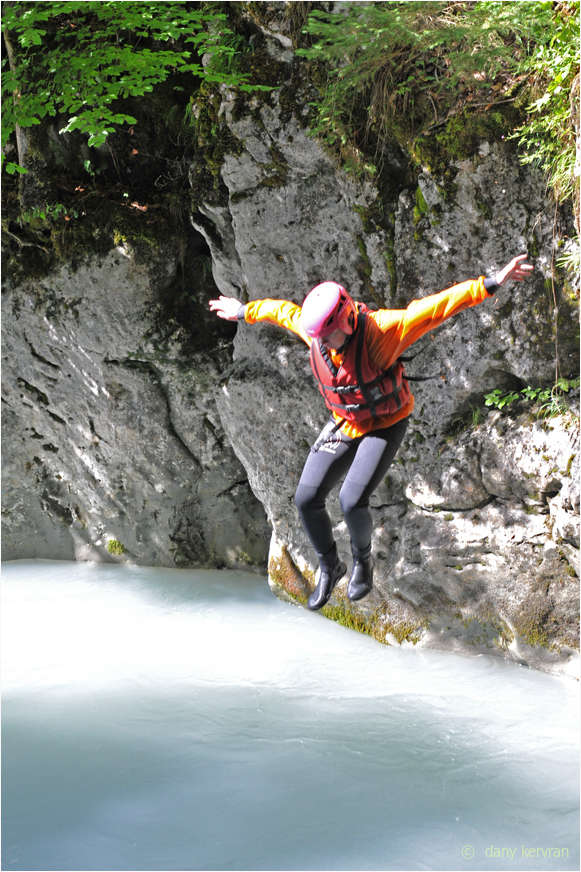 jump into the water !