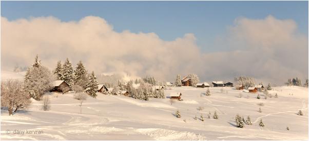 winter landscape in Praz-de-Lys