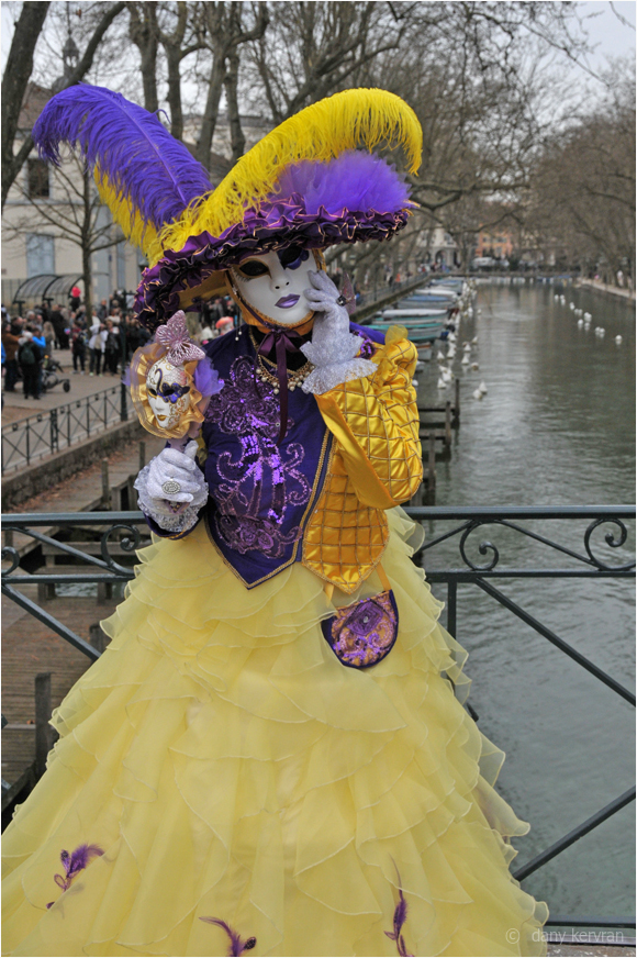 masked personage, Venetian carnival 2017 at Annecy