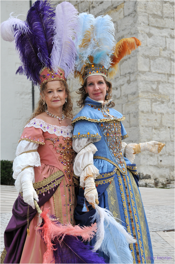 dressed up personages, Venetian carnival at Annecy