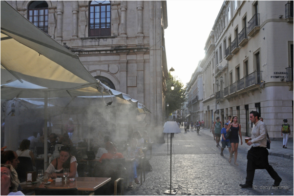 a street in Seville with spray