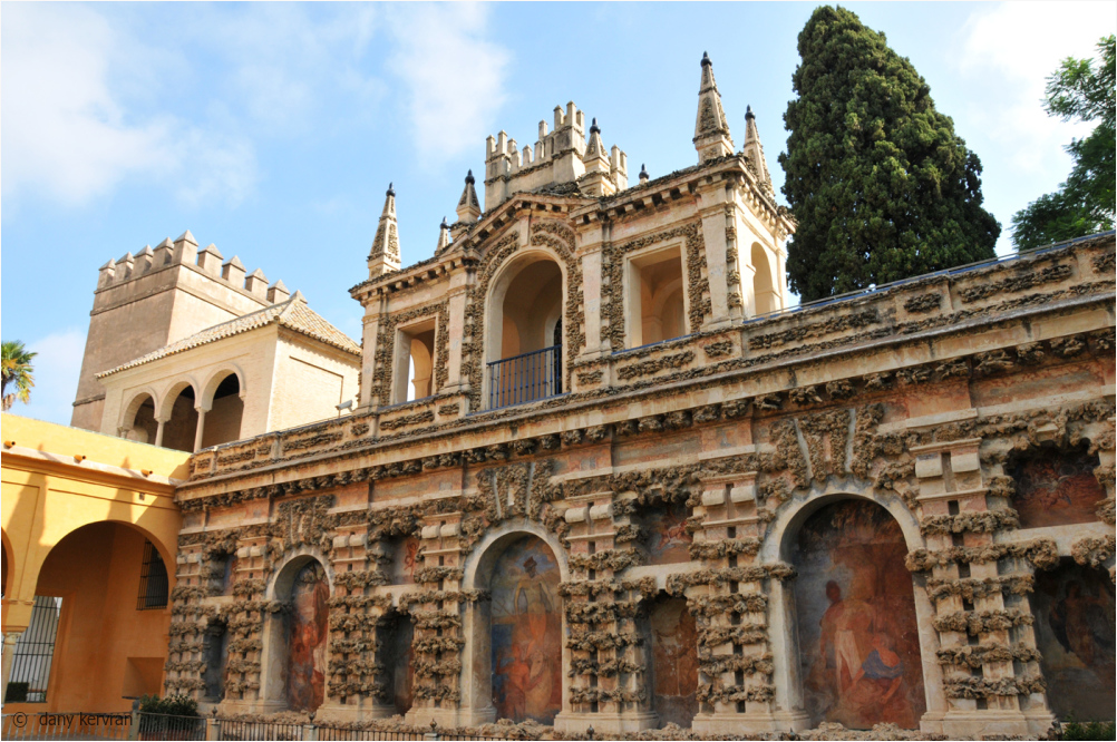 la Galeria del Grutesco, Alcázar of Seville