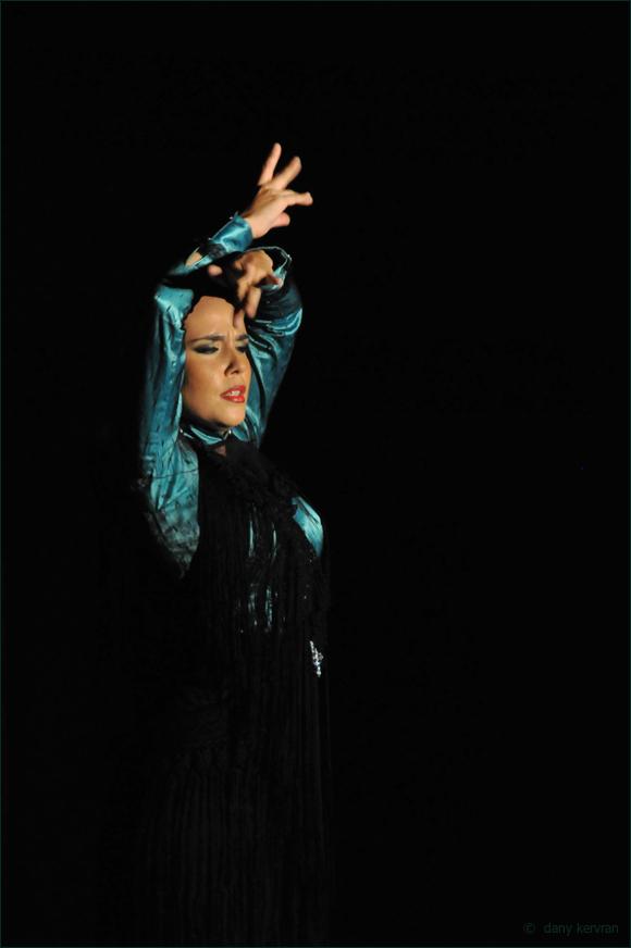 a flamenco dancer in a cabaret