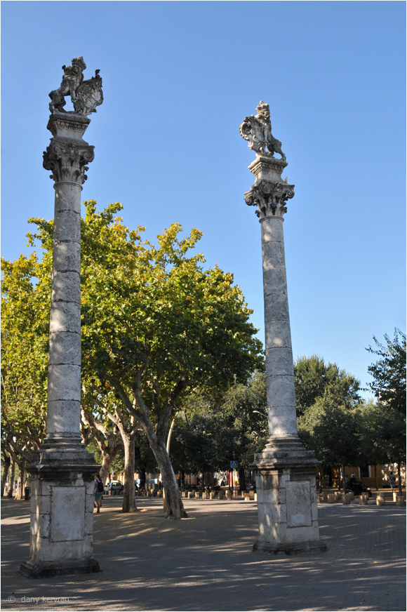 columns of Hercules on la alameda at Seville