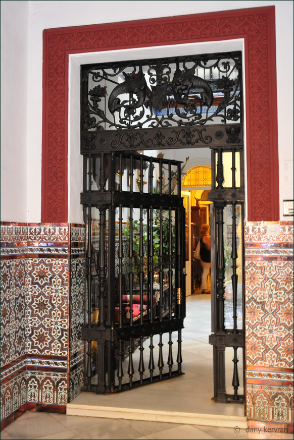 a patio at Seville