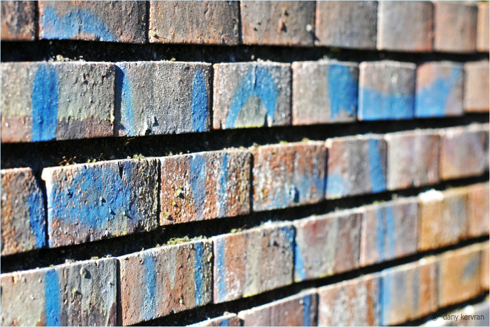 blue-bricks wall