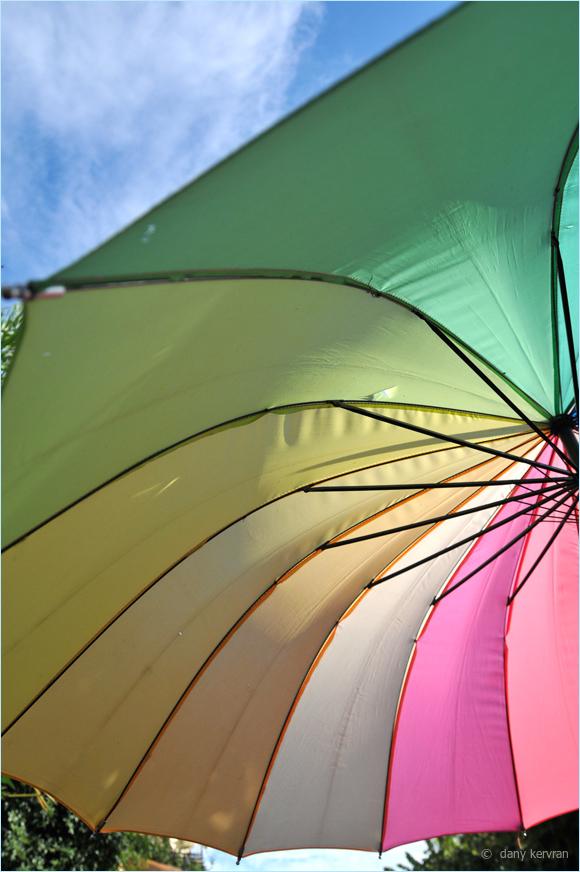 a parasol in Isola Bella (Italy)