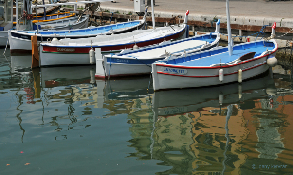fishing boats in the harbour of Cassis