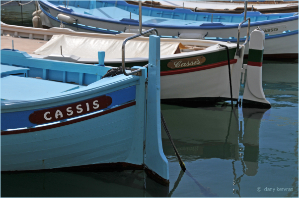 a fishing boat in the harbour of Cassis