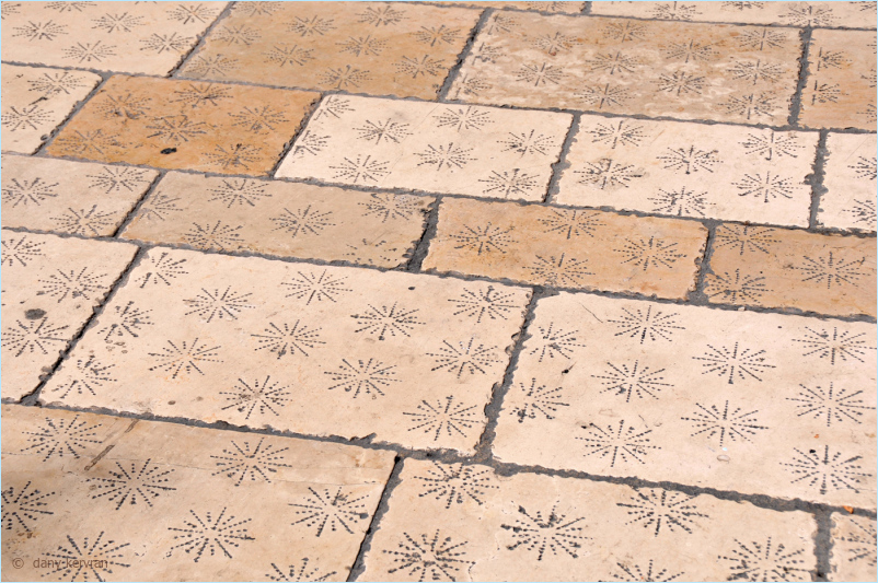 paving in a street of Cassis