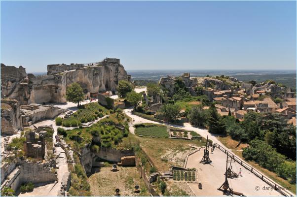 ruins of the castle of les Baux-de-Provence