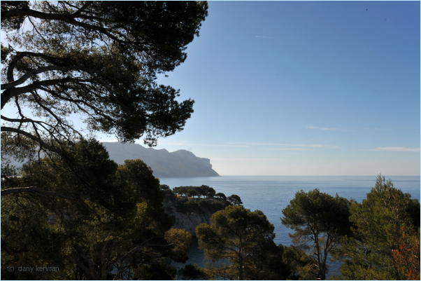 view on Cap Canaille from Port-Miou