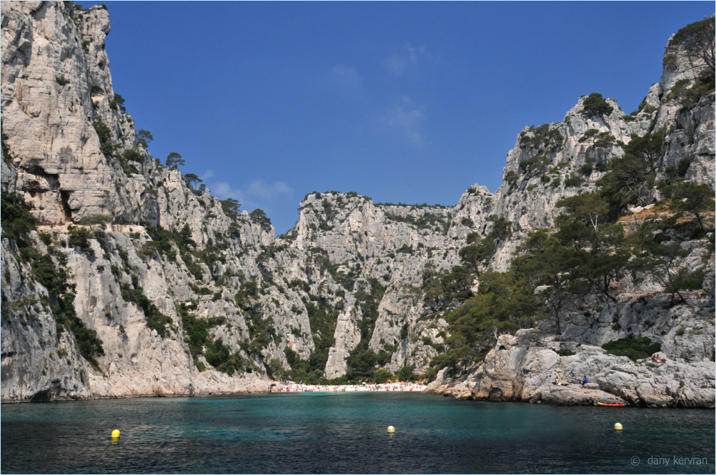 the calanque of en Vau viewed from the sea