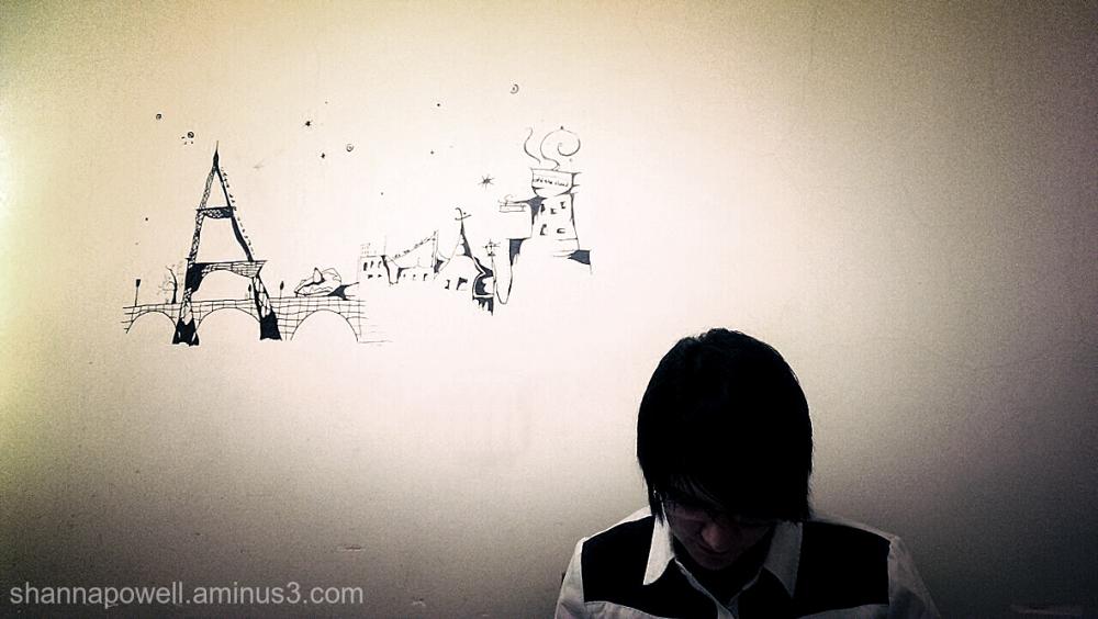 Wall art in coffee shop