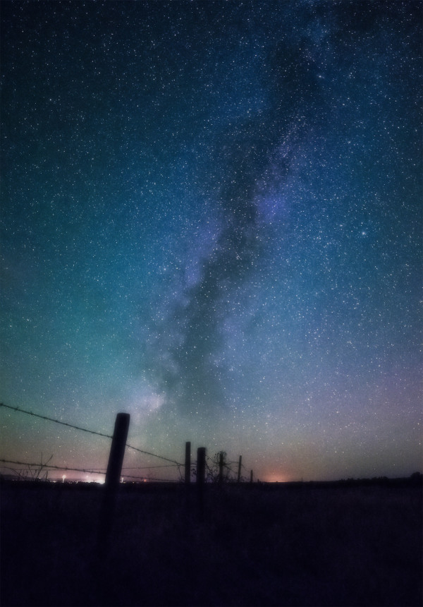 Night sky on the great plains