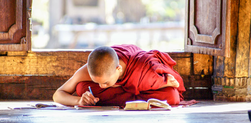Schoolwork at the Monastery