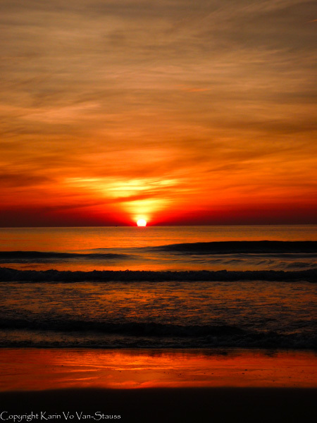 Sky on fire, sunrise, early morning