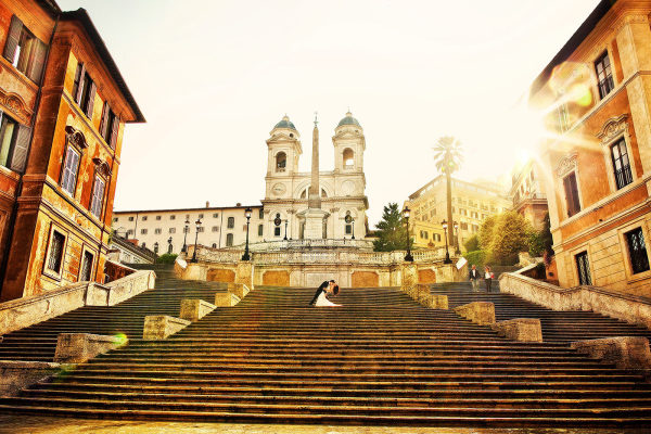 Destination wedding in Rome, Italy