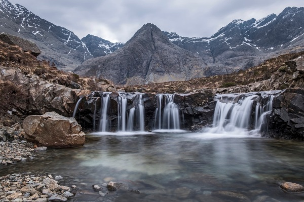 Fairy pools waterfall.
