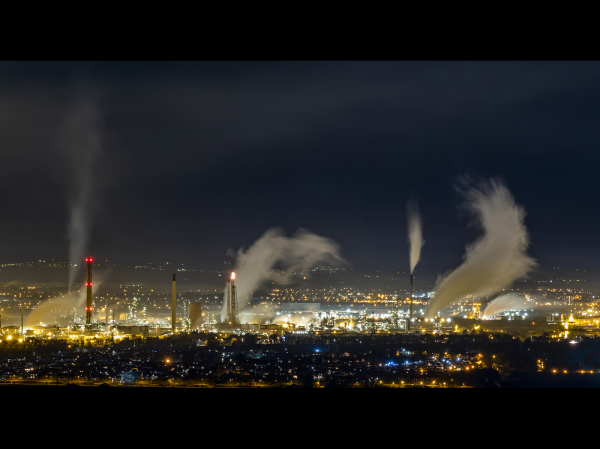 Long exposure of our local refinery
