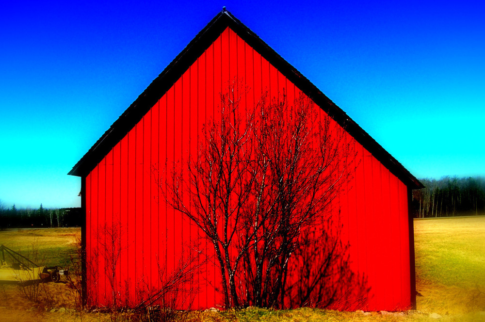 Old red barn