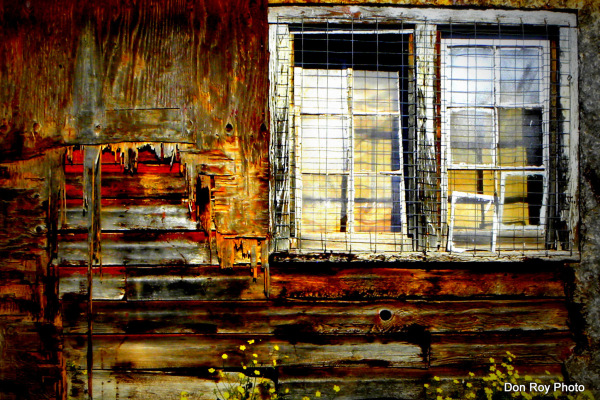 Old barn side windows