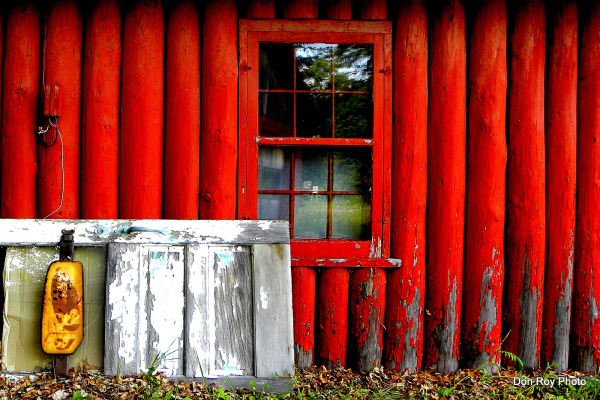 Red Cabin Window