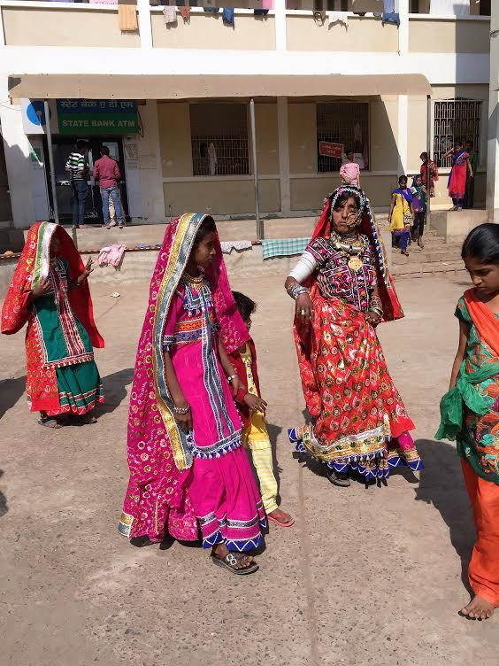 Dancing in the Ashapura Temple Square:Kutch