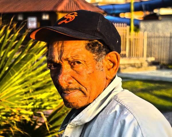 Distrustfully co-operative street portrait