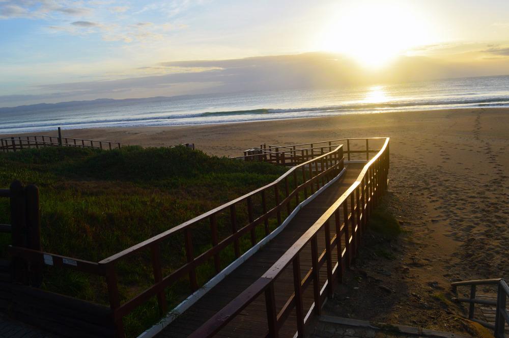 Sunrise stairway to the beach