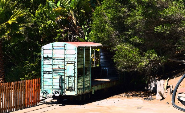 Unused decaying old railway coach