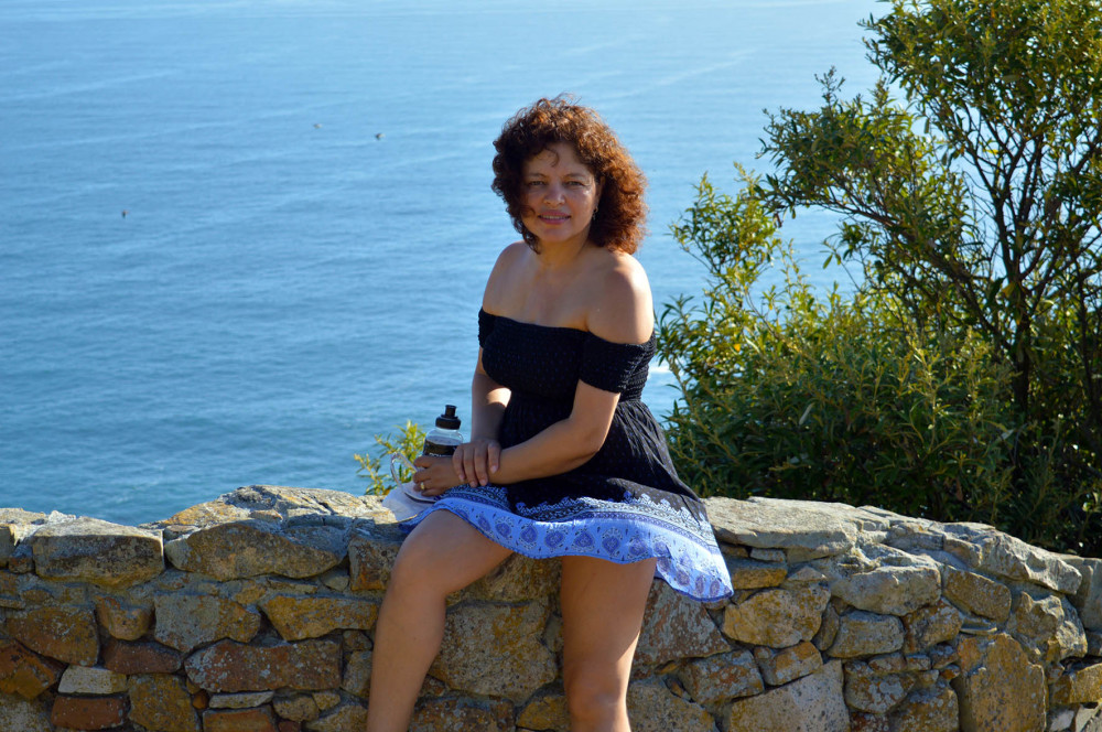 deirdre fibiger at cape point cliffs