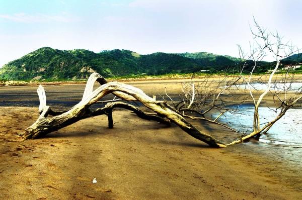 Umzimvubu river in flood port st johns wild coast