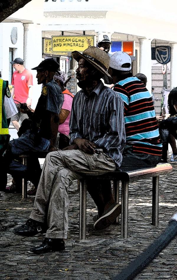 man at green street market
