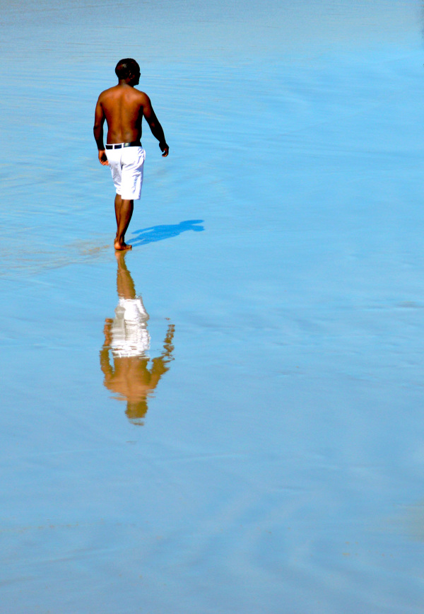 Man walking in Beach Port Elizabeth