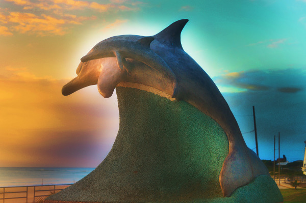 Dolphin Sculpture at Dolphin Beach Jeffreys Bay