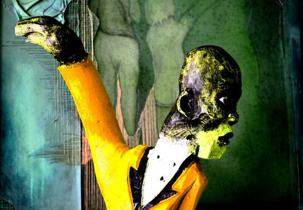 Sclupture of African Man Port Elizabeth